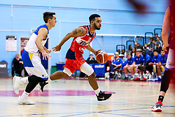 Adam Weary of Bristol Flyers in action - Rogan/JMP - 13/10/2017 - BASKETBALL - SGS Wise Arena - Bristol, England. - Bristol Flyers v Cheshire Pheonix - BBL Cup.