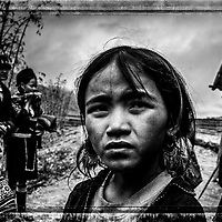A typical local ethnic child in Sapa, Vietnam.