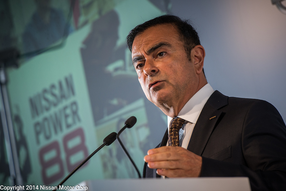 CEO Carlos Ghosn delivers FY13 Financial Results at Nissan HQ in Yokohama, Japan.