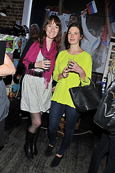 Left to right, AMY SHEARER and CATHERINE BERGER at a party in aid of the Sebastian Hunter Memorial Trust held at Bunga Bunga, 37 Battersea Bridge Road, London SW11 on 21st June 2012.