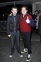 Jack Whitehall & Jonathan Ross, The BRIT Awards 2014 - Warner Music After Party, The Savoy, London UK, 19 February 2014, Photo by Brett D. Cove
