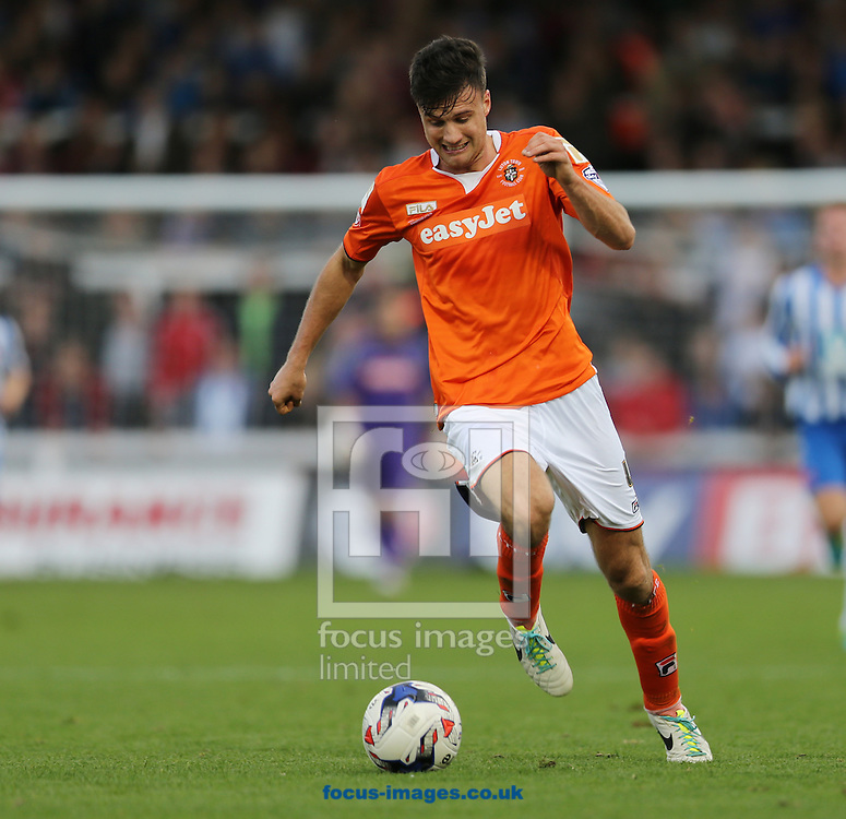 Jonathan Smith of Luton Town during the Sky Bet League 2 match at Victoria Park, Hartlepool<br /> Picture by Simon Moore/Focus Images Ltd 07807 671782<br /> 18/10/2014