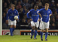 Fotball<br /> England 2004/2005<br /> Foto: SBI/Digitalsport<br /> NORWAY ONLY<br /> <br /> Ipswich Town v West Ham United<br /> The Coca Cola Championship. Play Off Semi Final Second Leg.<br /> 18/05/2005<br /> <br /> Ipswich's L-R Jim Magilton, Fabian Wilnas and Matt Richards look gutted as the second West Ham goal.