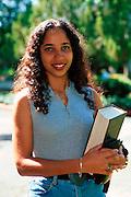 PUERTO RICO, SAN JUAN the University of Puerto Rico in the Rio Piedras area of the city; student portrait