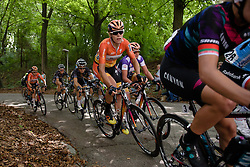 Ellen van Dijk (Boels Dolmans) in the lead group with 16km to go at the 123 km Stage 3 of the Boels Ladies Tour 2016 on 1st September 2016 in Sittard Geleen, Netherlands. (Photo by Sean Robinson/Velofocus).