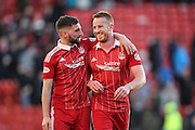 SCOTTISH PREMIERSHIP GAME AT PITTODRIE STADIUM , ABERDEEN.<br /> ABERDEEN V ROSS COUNTY ...  PIC OF   ROONEY AND SHINNIE AT THE END<br /> PIC DEREK IRONSIDE / NEWSLINE MEDIA