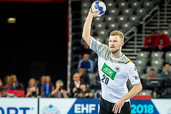 Philipp Weber of Germany during during handball match between National teams of Germany and Macedonia on Day 5 in Preliminary Round of Men's EHF EURO 2018, on January 17, 2018 in Arena Zagreb, Zagreb, Croatia. Photo by Ziga Zupan / Sportida