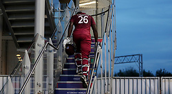 West Indies Carlos Brathwaite makes his way back into the dressing room after the ICC Cricket World Cup group stage match at Old Trafford, Manchester.