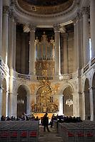 A chapel inside the Palace of Versailles, Paris, France.