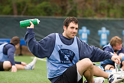 04 April 2008: North Carolina Tar Heels men's lacrosse defenseman Hunter Meldman (47) before practice in Chapel Hill, NC.