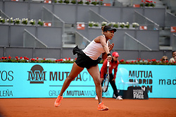 May 8, 2019 - Madrid, Spain - Naomi Osaka (JPN) in her match against Aliaksandra Sasnovich (BLR)during day five of the Mutua Madrid Open at La Caja Magica in Madrid on 8th May, 2019. (Credit Image: © Juan Carlos Lucas/NurPhoto via ZUMA Press)