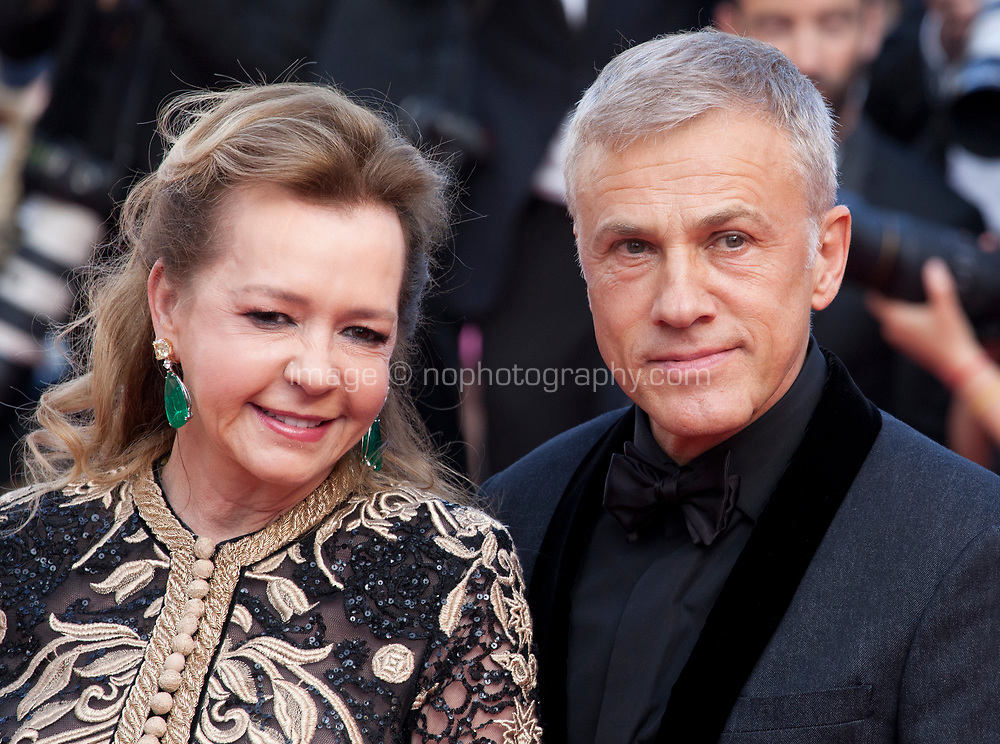 Caroline Scheufele and Christoph Waltz at the closing ceremony and The Specials film gala screening at the 72nd Cannes Film Festival Saturday 25th May 2019, Cannes, France. Photo credit: Doreen Kennedy