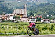 Simon Yates (GBR - Mitchelton - Scott) pink leader jersey during the 101th Tour of Italy, Giro d'Italia 2018, stage 16, Trento - Rovereto 34.5 km on May 22, 2018 in Italy - Photo Luca Bettini / BettiniPhoto / ProSportsImages / DPPI
