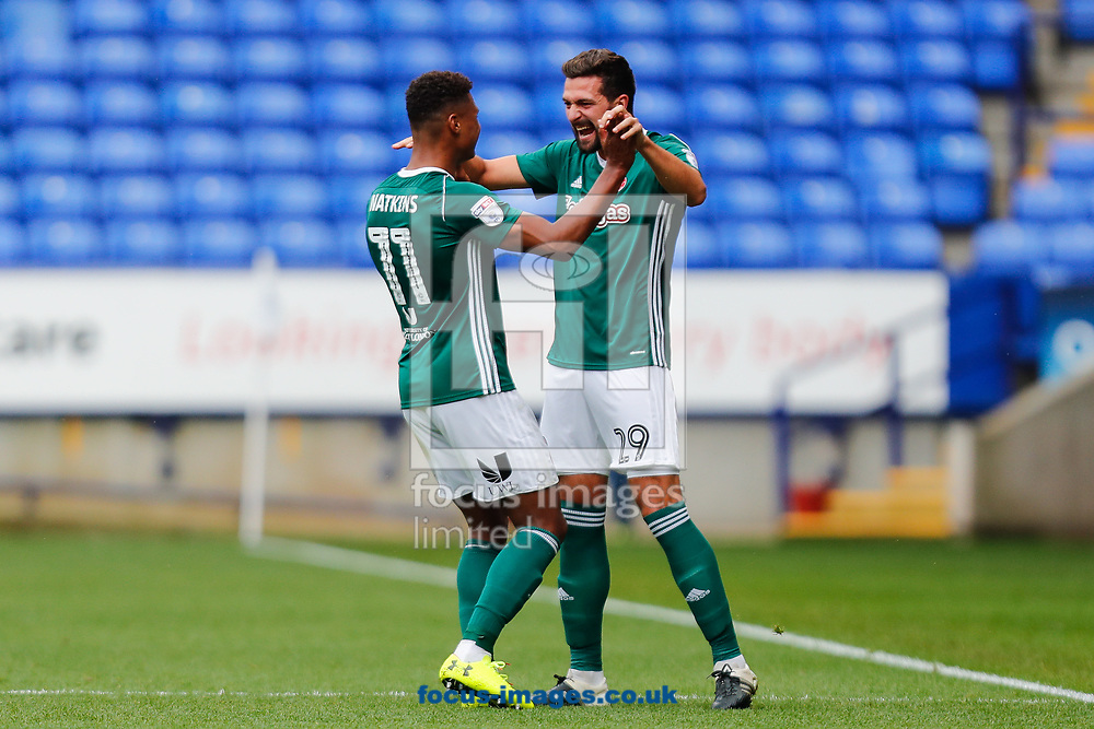 Yoann Barbet of Brentford celebrates scoring the opening goal during the Sky Bet Championship match between Bolton Wanderers and Brentford at the Macron Stadium, Bolton<br /> Picture by Mark D Fuller/Focus Images Ltd +44 7774 216216<br /> 23/09/2017