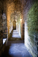 Cloister in the Earl's Palace, Kirkwall orkney Islands Scotland
