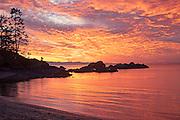Rosario Beach Sunset San Juan Islands Washington State