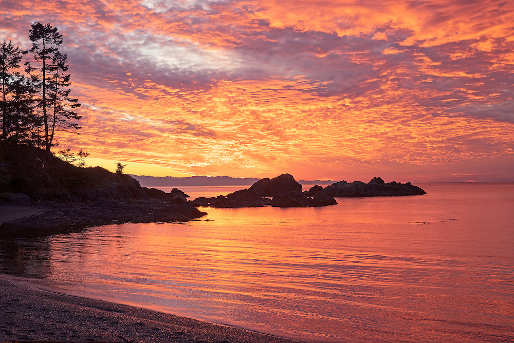 Rosario Beach Sunset San Juan Islands Washington State
