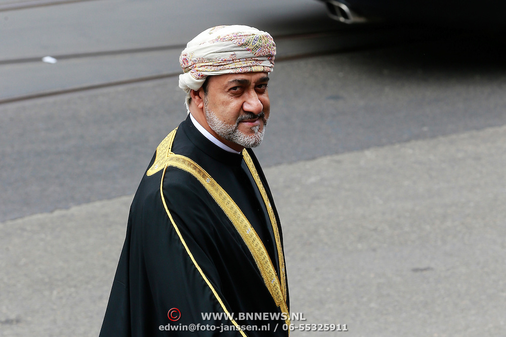 NLD/Amsterdam/20130429 - Inhuldiging Koning Willem - Alexander, Haitham bin Tareq al Said van Oman