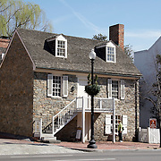 Historic Old Stone House circa 1766 on M Street in Georgetown area of Washington DC, USA<br />