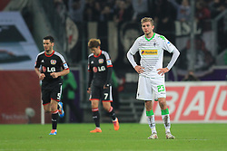 07.02.2014, Borussia Park, Moenchengladbach, GER, 1. FBL, Borussia Moenchengladbach vs Bayer 04 Leverkusen, 20. Runde, im Bild Christoph Kramer (Borussia Moenchengladbach #23) enttaeuscht nach dem 1:0 durch Heung-Min Son #7 (Bayer 04 Leverkusen - mitte) // during the German Bundesliga 20th round match between Borussia Moenchengladbach and Bayer 04 Leverkusen at the Borussia Park in Moenchengladbach, Germany on 2014/02/08. EXPA Pictures © 2014, PhotoCredit: EXPA/ Eibner-Pressefoto/ Schueler<br /> <br /> *****ATTENTION - OUT of GER*****