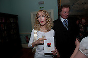 BASIA BRIGGS; RICHARD BRIGGS, Nicholas Coleridge celebrates the publication of his novel; Deadly Sins. Dartmouth House, Charles St. London. 28 April 2009