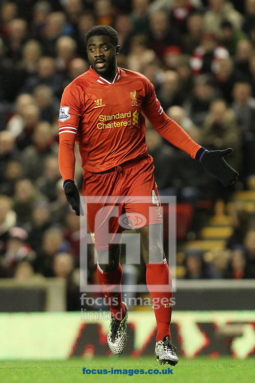 Picture by Michael Sedgwick/Focus Images Ltd +44 7900 363072<br /> 18/01/2014<br /> Kolo Toure of Liverpool during the Barclays Premier League match against Aston Villa at Anfield, Liverpool.