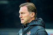 Southampton manager Ralph Hasenhuttl during the Premier League match between Newcastle United and Southampton at St. James's Park, Newcastle, England on 8 December 2019.