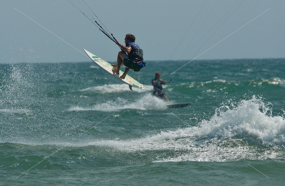 Outerbanks, NC - Mark Medama kiteboarding at the Triple-S 2011