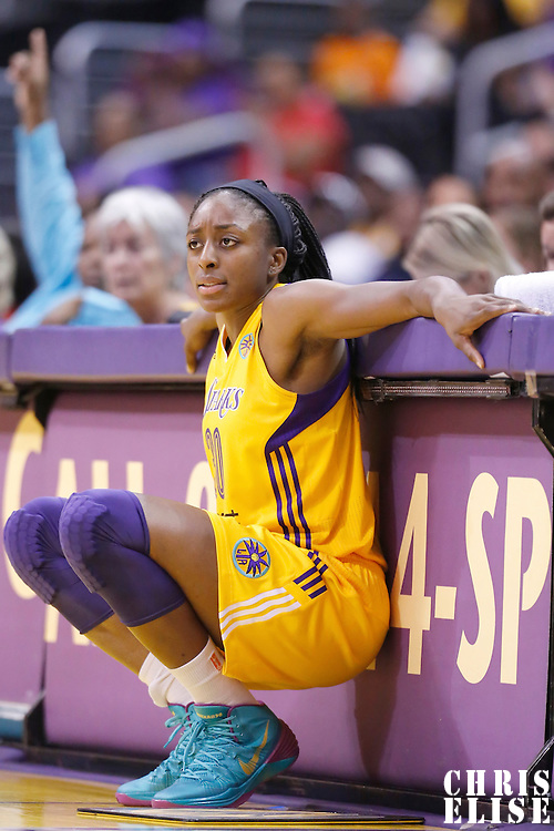 22 June 2014: forward Nneka Ogwumike (30) of the Los Angeles Sparks is seen during the San Antonio Stars 72-69 victory over the Los Angeles Sparks, at the Staples Center, Los Angeles, California, USA.