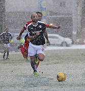 Dundee&rsquo;s Gary Harkins races away from Partick Thistle&rsquo;s Daniel Seaborne - Partick Thistle v Dundee, Ladbrokes Premiership at Firhill<br /> <br />  - &copy; David Young - www.davidyoungphoto.co.uk - email: davidyoungphoto@gmail.com