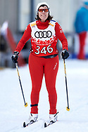 Schladming, Austria - 2017 March 20: Claudia Schmidt from SO Switzerland competes in Cross Country Race while Special Olympics World Winter Games Austria 2017 in Ramsau am Dachstein on March 20, 2017 in Schladming, Austria.<br /> <br /> Mandatory credit:<br /> Photo by © Adam Nurkiewicz / Mediasport<br /> <br /> Adam Nurkiewicz declares that he has no rights to the image of people at the photographs of his authorship.<br /> <br /> Picture also available in RAW (NEF) or TIFF format on special request.<br /> <br /> Any editorial, commercial or promotional use requires written permission from the author of image.<br /> <br /> Image can be used in the press when the method of use and the signature does not hurt people on the picture.