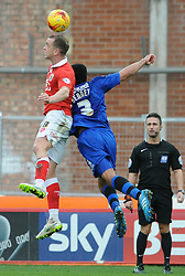 Bristol City's Aaron Wilbraham challenges for the ball with Rochdale's Rhys Bennett - Photo mandatory by-line: Dougie Allward/JMP - Mobile: 07966 386802 - 28/02/2015 - SPORT - football - Bristol - Ashton Gate - Bristol City v Rochdale AFC - Sky Bet League One