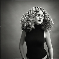 A young woman with amazing curly hair