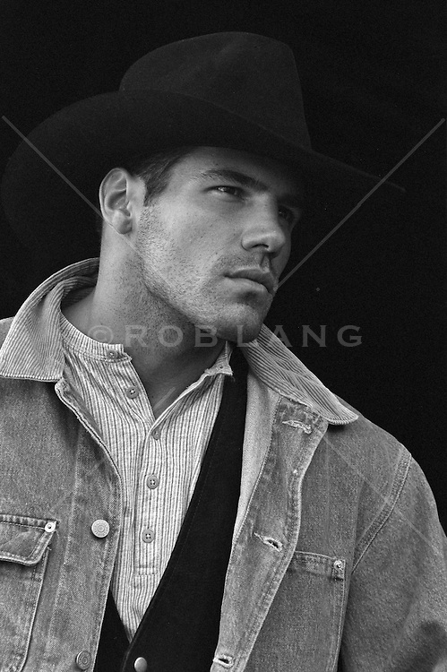 portrait of a good looking cowboy