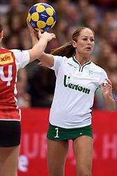 11-04-2015 NED: PKC SWKgroep - TOP Quoratio, Rotterdam<br /> Korfbal Leaguefinale in een volgepakt Ahoy wordt gewonnen door PKC met 22-21 /