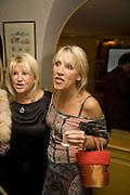 INGRID TARRANT, Launch of Crosley Bespoke Diamond Studs. Annabels. London. 15 November 2007. -DO NOT ARCHIVE-© Copyright Photograph by Dafydd Jones. 248 Clapham Rd. London SW9 0PZ. Tel 0207 820 0771. www.dafjones.com.