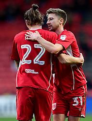 Milan Djuric of Bristol City celebrates with Jens Hegeler of Bristol City  - Mandatory by-line: Joe Meredith/JMP - 04/02/2017 - FOOTBALL - Ashton Gate - Bristol, England - Bristol City v Rotherham United - Sky Bet Championship