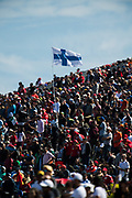 October 18-21, 2018: United States Grand Prix. Finnish flag waves in the stands in Austin Texas