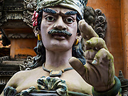 10 AUGUST 2017 - UBUD, BALI, INDONESIA: A statue at the entrance to Pura (temple) Catur Bhuana about 500 meters from central Ubud.      PHOTO BY JACK KURTZ