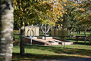 The Army Commandos Memorial at the National Memorial Arboretum, Croxall Road, Alrewas, Burton-On-Trent,  Staffordshire, on 29 October 2018. Picture by Mick Haynes.