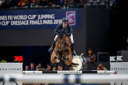 /LINDELÖW Douglas (SWE), Zacramento<br /> Paris - FEI World Cup Finals 2018<br /> Longines FEI World Cup Jumping Final III<br /> www.sportfotos-lafrentz.de/Stefan Lafrentz<br /> 15. April 2018