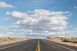 Road and sky, New Mexico, USA.