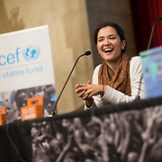 College students attend the UNICEF Campus Initiative Summit, held at Riverside Church in New York City on October 13, 2013. <br />