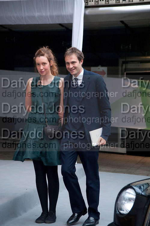KATE GOLDSMITH; BEN GOLDSMITH, Ark- Absolute Return for Kids. Fundraiser at Waterloo Euroster terminal. London. 13 May 2010. -DO NOT ARCHIVE-© Copyright Photograph by Dafydd Jones. 248 Clapham Rd. London SW9 0PZ. Tel 0207 820 0771. www.dafjones.com.