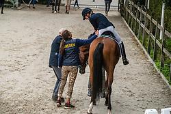 Kristoffersen Cecilia, SWE, Skywalker<br /> World Championship Young Dressage Horses - Ermelo 2019<br /> © Hippo Foto - Dirk Caremans<br /> Kristoffersen Cecilia, SWE, Skywalker