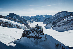 14.09.2017, Jungfrauenjoch, Wengen, SUI, FIS Weltcup Ski Alpin, Vorberichte, im Bild Jungfraujoch mit Sphinx Observatorium im Hintergrund der Aletschgletscher // Jungfraujoch with Sphinx Observatory in the background the Aletsch Glacier during a preliminary reports prior to the FIS ski alpine world cup at the Jungfrauenjoch in Wengen, Switzerland on 2017/09/14. EXPA Pictures © 2020, PhotoCredit: EXPA/ Johann Groder **** ACHTUNG - dieses Bilddatei ist für den Grossformatdruck in einer maximalen Grösse mit mehr als 18142 x 6717 pixel (ca. 700 MB) verfügbar! Fragen Sie nach den hochauflösenden Daten // ATTENTION - This image file is for Large Format Printing available in a maximum size of more then 18142 x 6717 pixels (about 700 MB)! Ask for the high-resolution data. ****