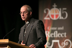 © Licensed to London News Pictures. 23/02/2015. Birmingham, UK. The Archbishop of Canterbury, the Rt Hon Justin Welby gave a speech to Business Leaders in Birmingham earlier today.