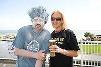 The Iceman with Susan McGinely from Salthill at the Budweiser Ice Cold Summer BBQ, broadcast live on the Tony Fenton Show at The Galway Bay Hotel in Salthill. Photo:Andrew Downes.. .Both Duke Special and The Divine Comedy performed at the summer kick-off party and Today FM's Tony Fenton Show broadcast live from the hotel all afternoon...The 150 invited guests included Today FM listeners ad Budweiser Ice Cold Facebook fans from all over the country. Guests also won the chance to win a cool Grand in cash, meet Mr. Iceman and of course enjoy a pint of Budweiser Ice Cold, the coldest pint ever!..Enjoy Budweiser Ice Cold sensibly visit www.drinkaware.ie ..This event was strictly over 18's,..-ENDS-..FOR FURTHER INFORMATION PLEASE CONTACT:.Killian Burns / Aoiffe Madden..Killian.burns@ogilvy.com / aoiffe.madden@ogilvy.com.WHPR..Tel: 01 6690030.