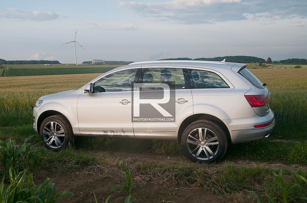 Audi Q7 near Ingolstadt, Germany.