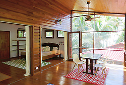 EXCLUSIVE: How about owning your own tropical Caribbean luxury resort for just $10. American couple Suzanne and Dave Smith are selling off their incredible Casa Cayuco Eco Adventure Lodge, in Bocas del Toro, Panama, Central America. But instead of listing their stunning multi-million-pound island getaway for sale they are offering the chance for anyone who buys a $10 ticket to win their extraordinary lifestyle and profitable business. Dave and Suzanne have spent five years turning a former rustic lodge into one that has just been voted number one resort on TripAdvisor in Panama. Their incredible two-acre slice of heaven is bordered by sloth-filled rainforest to the rear and crystal clear coral sea to the front. The lucky winner of the 24-guest resort will become owner of four stand-alone cabins, a main lodge, two lodge suites, and an air-conditioned luxury owner's suite designed by Dave and Suzanne themselves and built by skilled local carpenters. Outside, Casa Cayuco comes with its own jetty and thatch covered sun terrace as well as everything you need to run a business, including commercial kitchen communication tower, laundry and maintenance building and THREE power boats, each over 23-foot long. Kayaks, snorkelling, spear fishing and paddle boards and surf gear are also ready and waiting to be used by a new owner and guests alike. And if that's not enough, British competition organisers WinThis.Life https://winthis.life/index.aspx# are offering a $50,000 cash injection to welcome the new owners. All those wishing to take part have to do is buy one or more tickets and play a spot-the-ball-type competition on the website. Entries are being taken extension until April 11. Dave, 35, and Suzanne, 33, first arrived on the island in 2013 with just seven suitcases having decided to sell up from their home and corporate lives near Detroit, Michigan, USA. 16 Feb 2018 Pictured: Pic shows accomodation at the Caribbean resort Casa Cayuco in Panama which one lucky winner